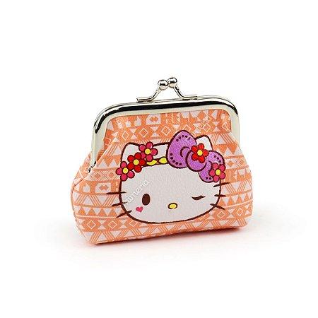 Porta Moedas Hello Kitty Salmão