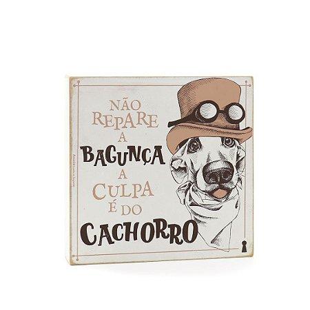 Quadro Box Culpa do Cachorro 25x25