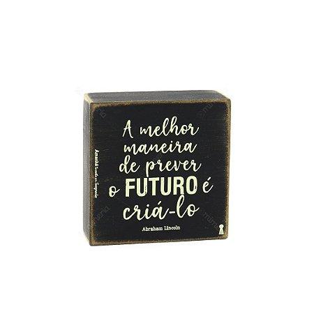 Quadro Box Prever O Futuro 12x12