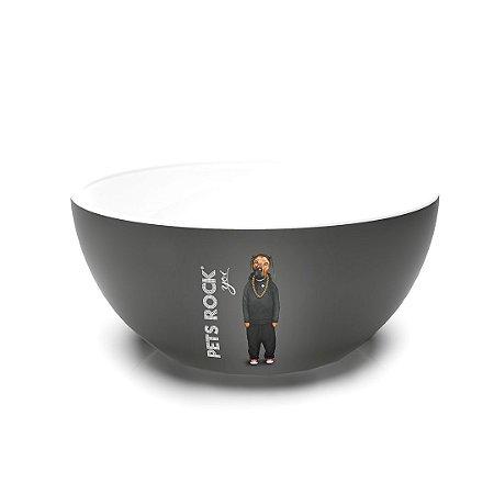 Bowl de Cerâmica Pets Rock Rap