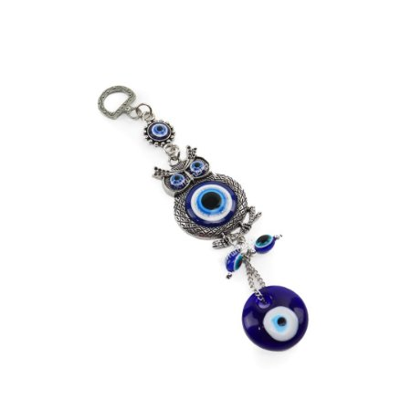 Enfeite Decorativo de Parede Olho Grego e Coruja Pequeno