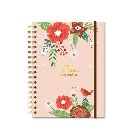 Caderno Colegial Jardim 200 folhas
