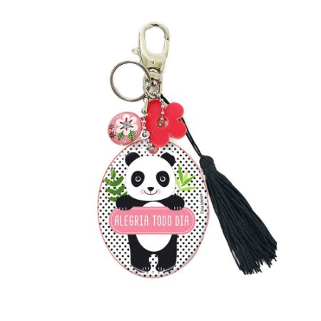 Chaveiro com Espelho Panda