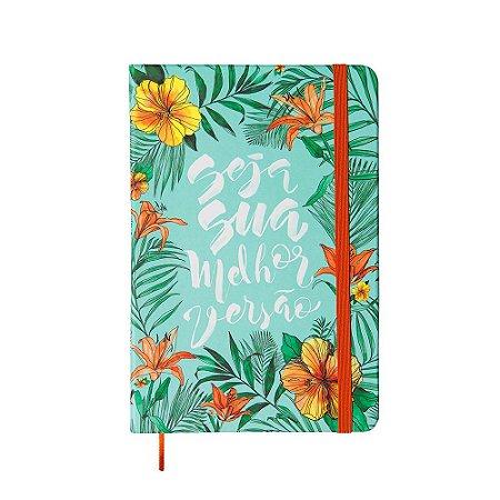 Caderneta Sem Pauta Floral Seja Sua Melhor Versão Média