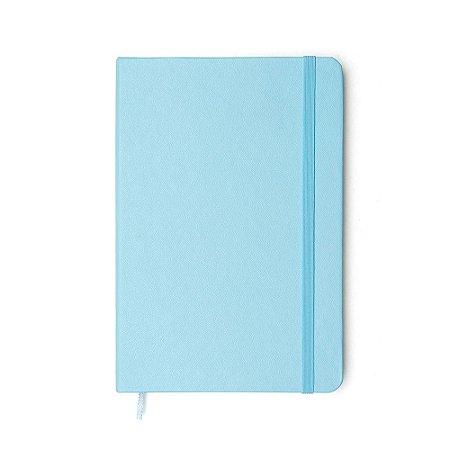 Caderneta Pontada Clássica Azul Pastel