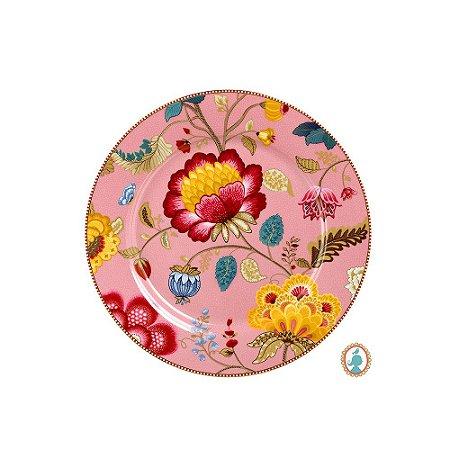 Prato Sousplat Rosa Floral Fantasy Pip Studio