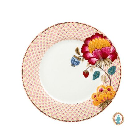 Prato de Jantar Branco Floral Fantasy Pip Studio