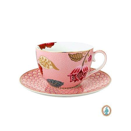 Xícara de Chá Rosa Floral Fantasy Pip Studio