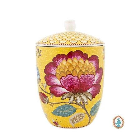 Pote Amarelo Floral Fantasy Pip Studio