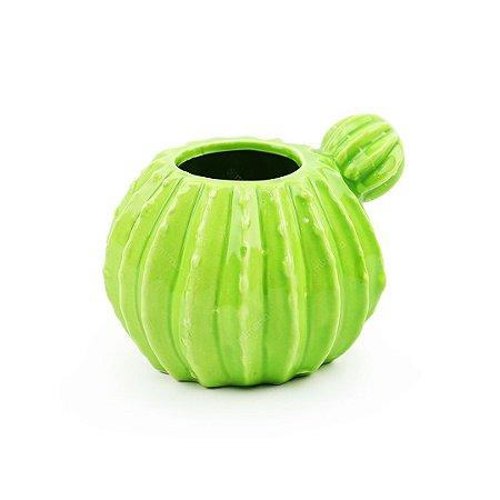 Porta Treco Decorativo em Cerâmica Cacto Verde Claro