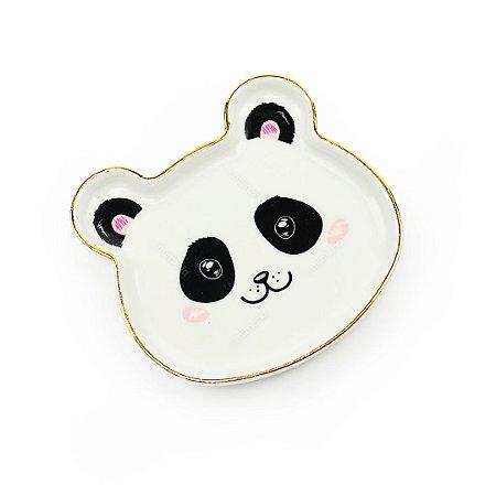 Mini Pratinho Decorativo em Cerâmica Panda