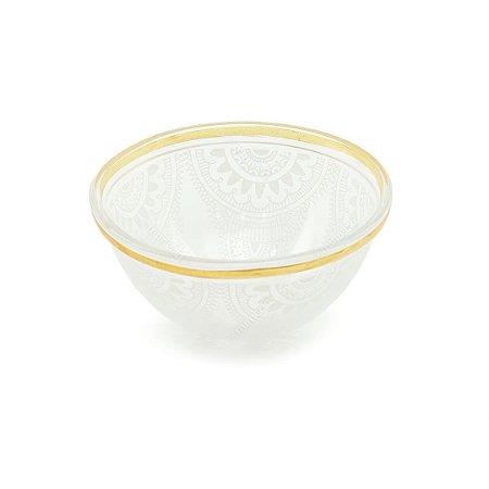 Tigela de Vidro Henna Branca