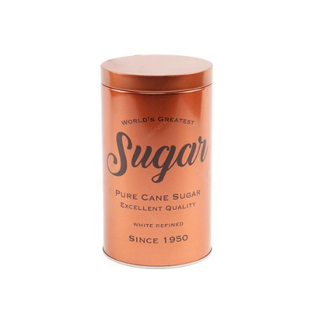 Lata de Metal Redonda Açúcar Cobre