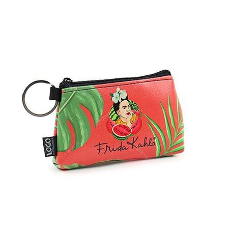 Necessaire Niqueleira Estampada Frida Kahlo Pitaia e Melancia Vermelha