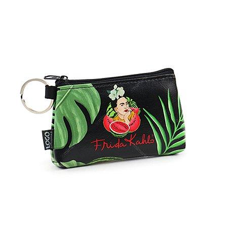 Necessaire Niqueleira Estampada Frida Kahlo Pitaia e Melancia Preta