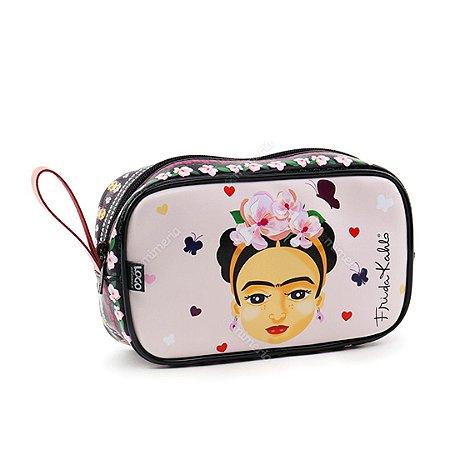 Necessaire Estampada Média Frida Kahlo Fridinha Rosa