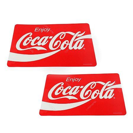 Jogo Americano Enjoy Coca-Cola Vermelha 2 Peças