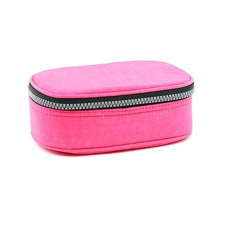 Estojo 100 Pens Box Jumbo Nylon Pink