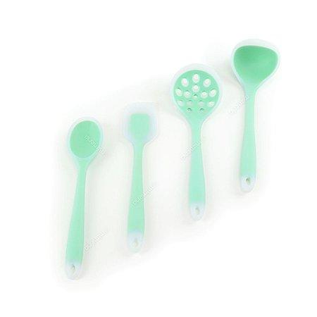 Kit de Utensílios de Silicone Circa 4 Peças Verde