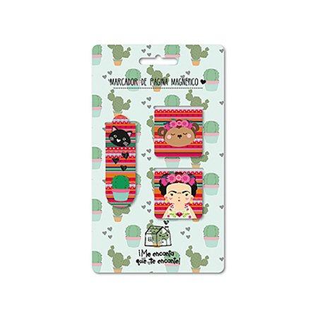 Conjunto Marcador de Páginas Frida Colores