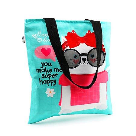 Bolsa Sacola Happy Gato