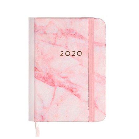Agenda Planner Diária 2020 Mármore Rosa Cíceros
