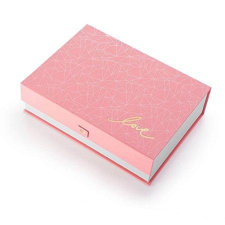 Caixa Organizadora Pink Stone Love