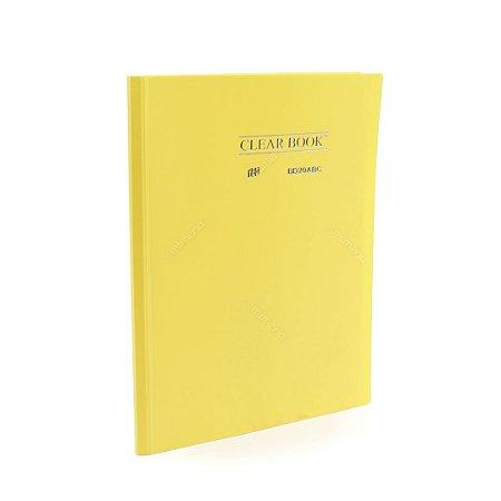 Pasta Catálogo 20 Sacos Plásticos A4 Amarela