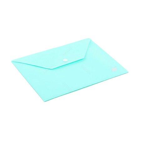 Pasta Envelope com Botão Horizontal A5 Azul