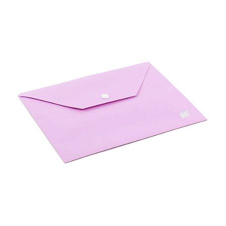 Pasta Envelope com Botão Horizontal A5 Lilás