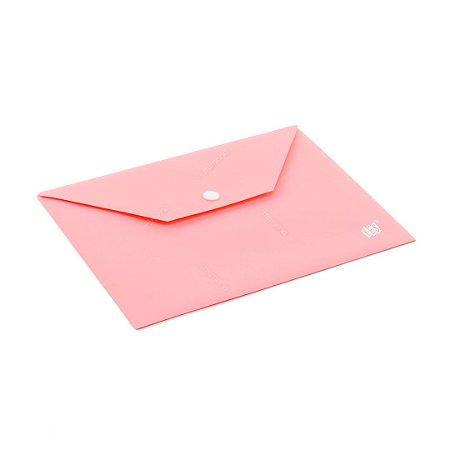 Pasta Envelope com Botão Horizontal A5 Rosa