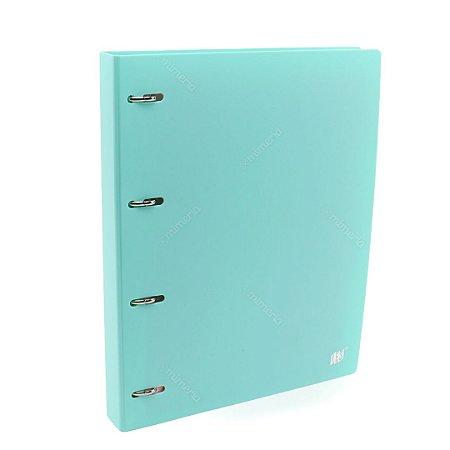 Fichário Argolado com Divisória A4 Escolar Azul