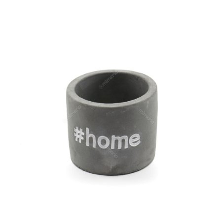 Cachepô em Concreto Sweet Home Cinza