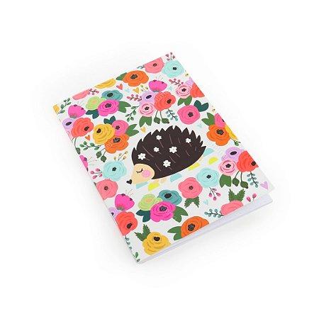 Caderno Pontado Porco Espinho Floral