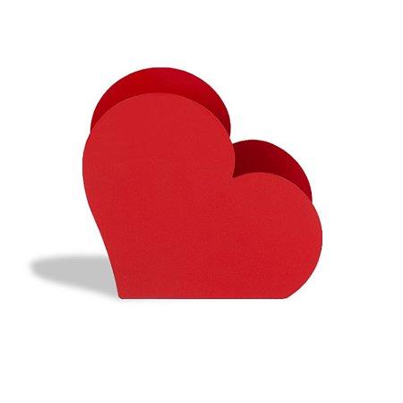 Porta Treco Coração Bordô
