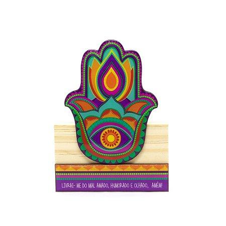 Escultura Hamsa Colorido Pequena
