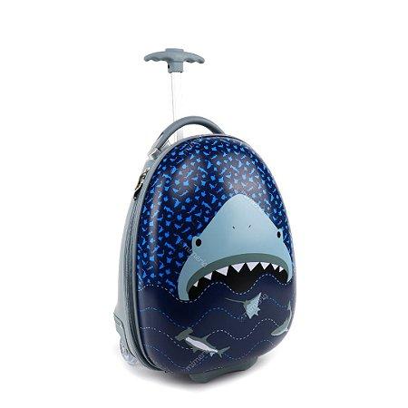 Mala Infantil com Rodinhas Tubarão