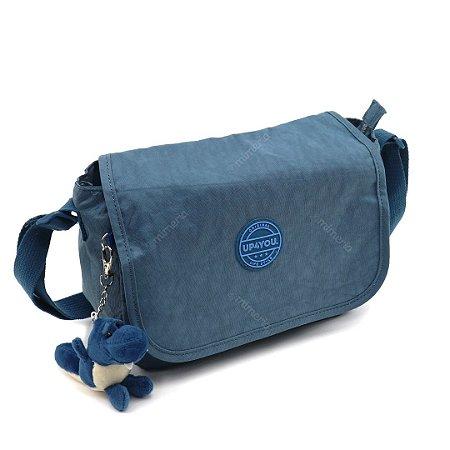 Bolsa Lateral Crinkle Azul
