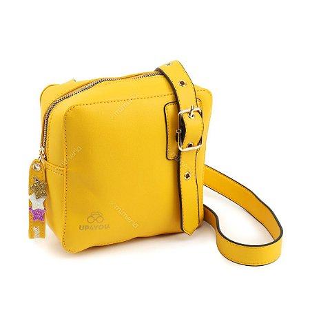 Bolsa Lateral Feminina Amarela