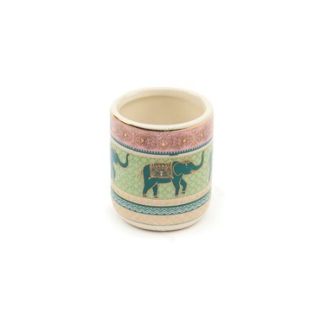 Cachepô de Cerâmica Elefante Indiano Rosa