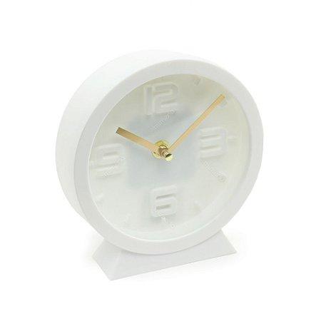 Relógio de Mesa Clássico Clean Style Branco