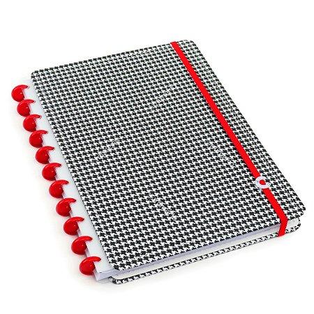 Caderno Inteligente Príncipe de Gales Grande Preto e Branco