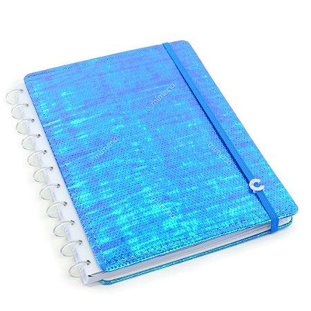 Caderno Inteligente Holográfico Grande Azul