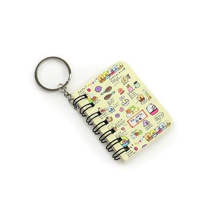 Mini Notebook Kawaii Bege