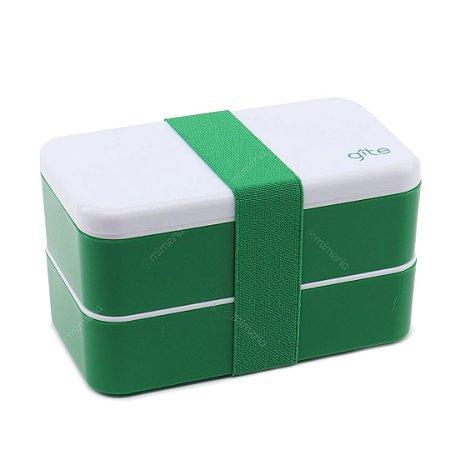Marmita Lunch Box 2 Compartimentos Verde