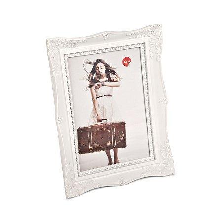 Porta Retrato Vintage Branco 13x18