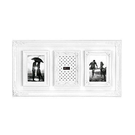 Porta Retrato Vintage Branco - 3 Fotos
