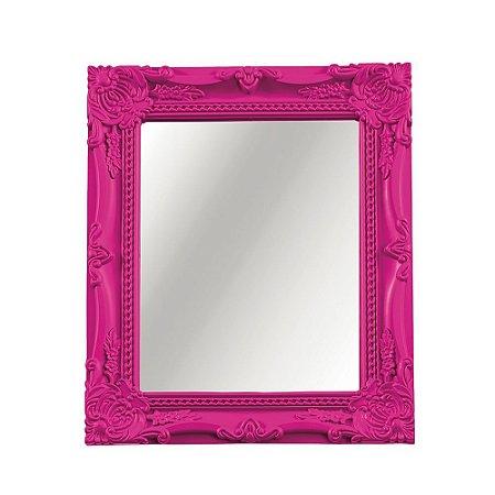Espelho Decorativo Vintage Rosa 20x25