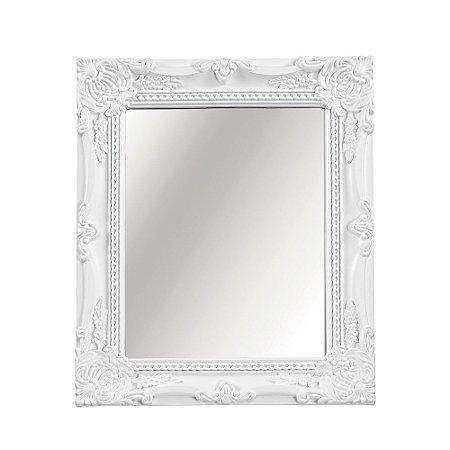 Espelho Decorativo Vintage Branco 20x25