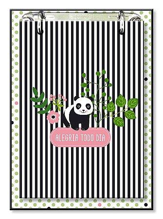 Bloco de Mesa Decorado Panda